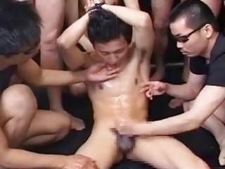 lean japanese gay boy obtains his dream