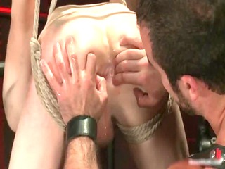 male bound and hung on ceiling gay porn