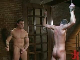 amateur gay fucker had bondaged and gullet pierced
