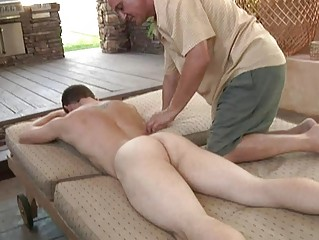 bleached muscled gay acquires fellatio and