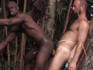 busty ebony gay man had his bottom fucked into