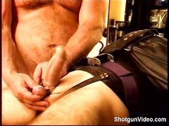 slave obtains some horny punch from his master on
