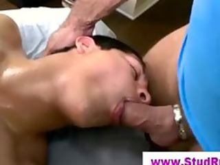 gay masseur licks and is assfucked by his