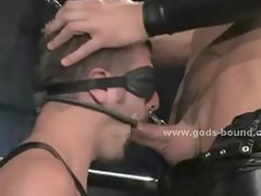 nasty and horny leather dressed gay master and