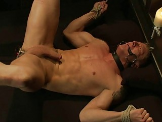 slim desperate bleached gay obtains tied and
