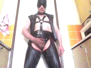 leather gay plays  and cumshots