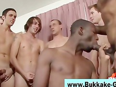 bukkake cock licking gay takes awesome