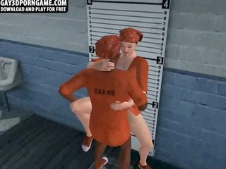 awesome and desperate 3d prisoners having steamy