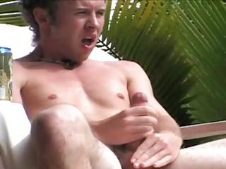 sweet gay fucker pisses and later plays