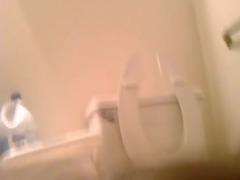white top breeds darksome gazoo inside restroom