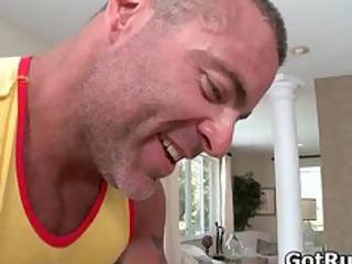 tyler takes his nice balls gay massaged part3