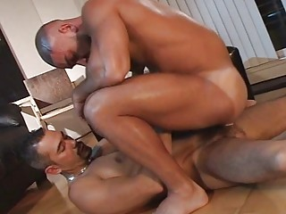 gay hunk turned on by arse tasting