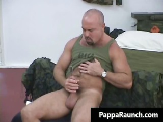 nasty gay man takes his strong cock sucked