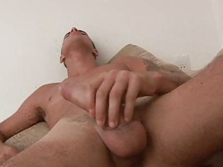 gay twink dildoing into the shower