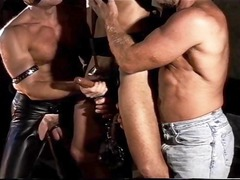 cbt group fuck suspended and caged inside chain