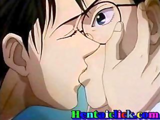 hentai gay kissing and pumping fun