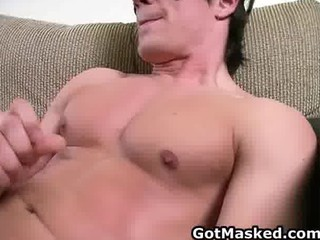 hunky gay man exposing and jerking part5