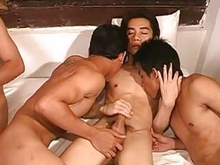 triple desperate eastern  gays having insane