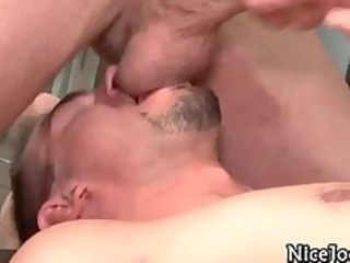 astonishing sexy gay jocks fuck anal and lick