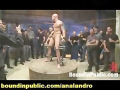 chained and bound slave public bdsm lace