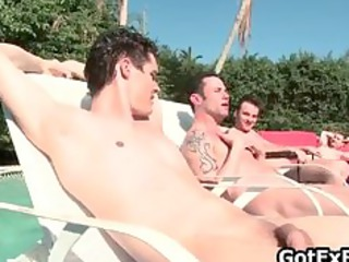 gay groupsex by the swimmingpool part3