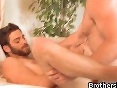 brothers gorgeous boyfriend takes penis sucked