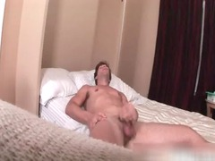 busty guy jerking his massive cock gay dudes