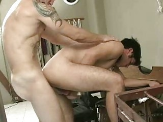 gay latino mug drill and raw butthole drilling