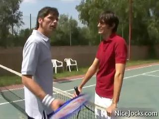 after tennis bang and lick gays