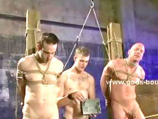 stunning gay dudes with sports body whipped and