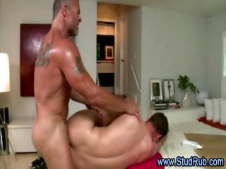 older  gay masseur assfucks his straight client