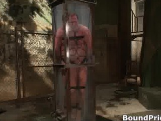 fucker bound and put in water tank gay part1