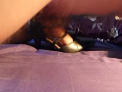 cum inside wifes black strappy high heel