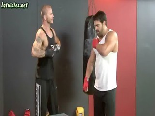 gay boxers lick their assholes and have bottom