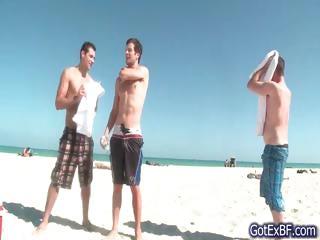 awesome gay triple under bath part6