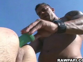 papi gay barebacking with yummy white cream
