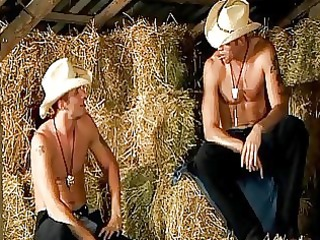muscled handsome cowboys making a steemy gay