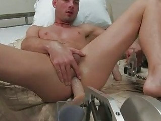naughty gay fellow dildoes his strong anal