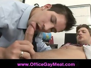 gay guy gives his lover a sweet wet cock sucking