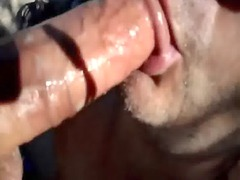 nice dick licking &_ cumshots in mouth