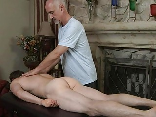 mature gay daddy gives amateur handsome boy a not