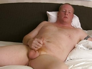 plump gay hunk pleases on the bunk