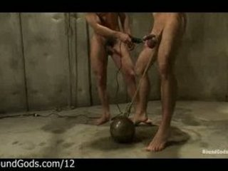 tied libido to weight ball gay takes punished by