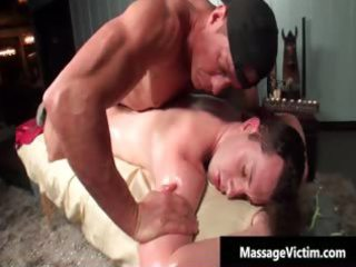 inexperienced sweet gay man acquires massaged