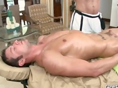 stud gets cock sucked during massage part2