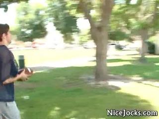 two wonderful jocks having fun banging gay video