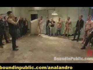 bound gay slave gangbanged and enema humiliated