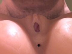 fake vagina cum from behind, sextoy cave cum 2
