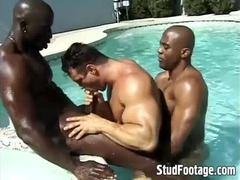 mixed poolside gay arse piercing