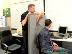 gay unmerciful porn at the bureau gay fuck